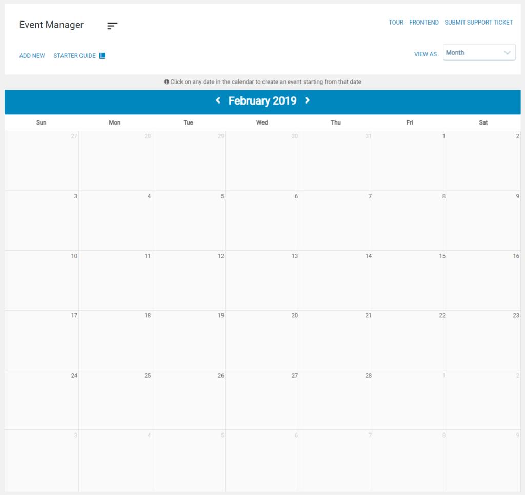 Blank Calendar on Fresh Install