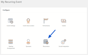 Recurrence Setting in Event Dashboard
