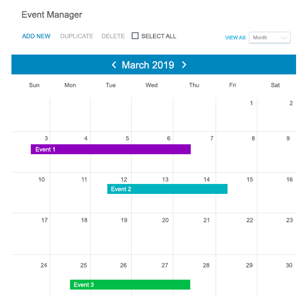 Event Manager WordPress
