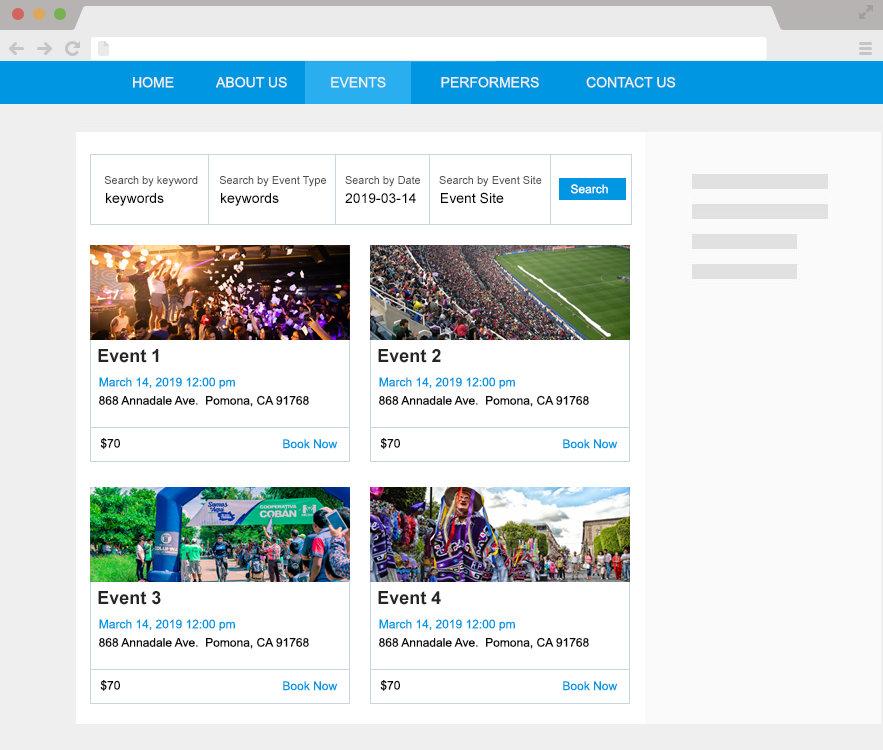WordPress Event Calendar Front-end Views