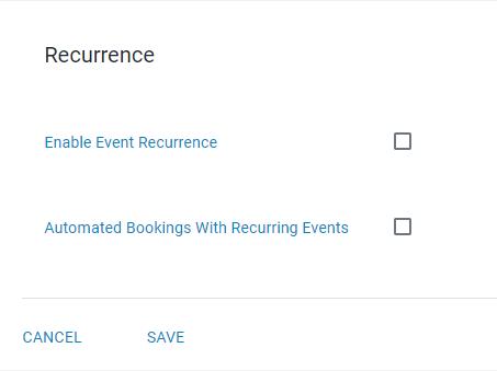 create recurring events
