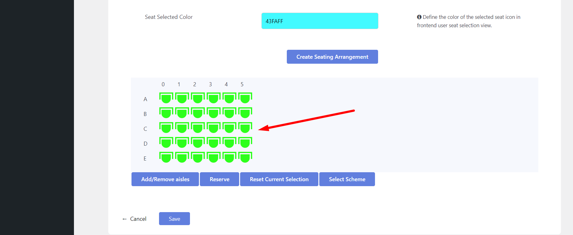 add live seating