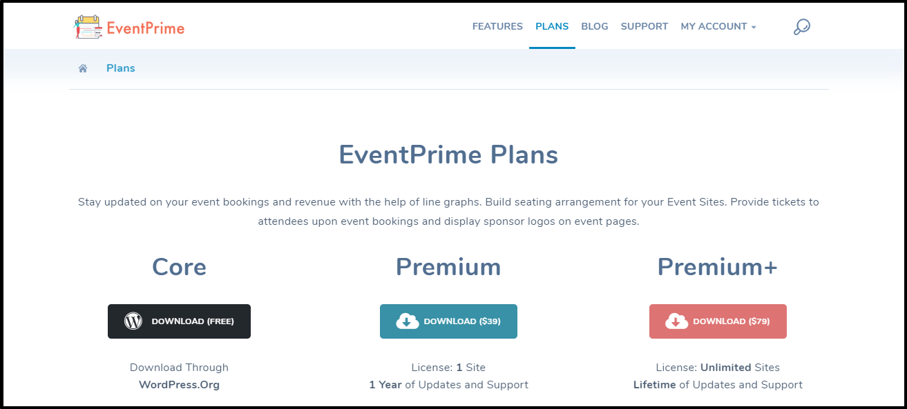 Publish user group specific events: EventPrime Plans