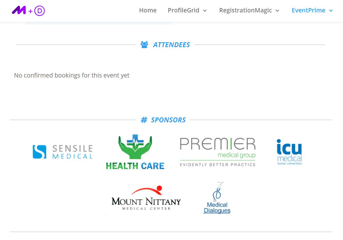 Event Sponsor list