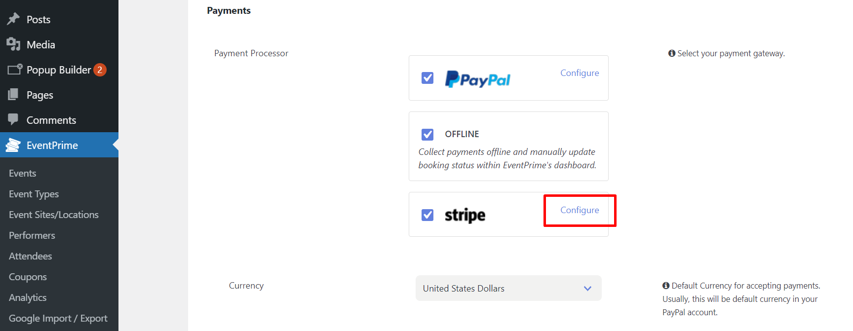 set up recurring payments with stripe