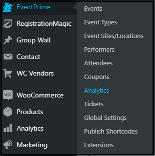 Dashboard - user group specific events