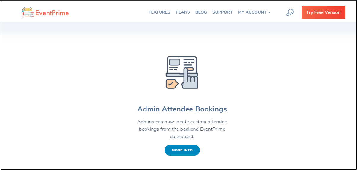 Custom attendee bookings: EventPrime Extensions Screen