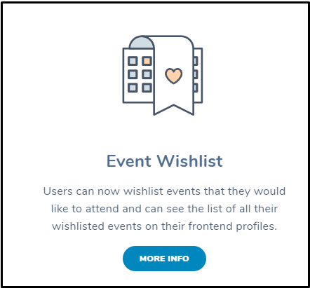 Add Events Wishlist: Event Wishlist