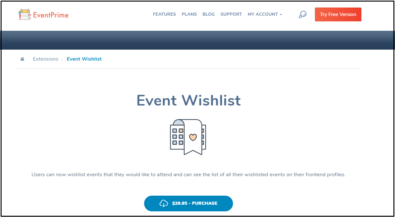 Add Events Wishlist: EventPrime Event Wishlist Extension