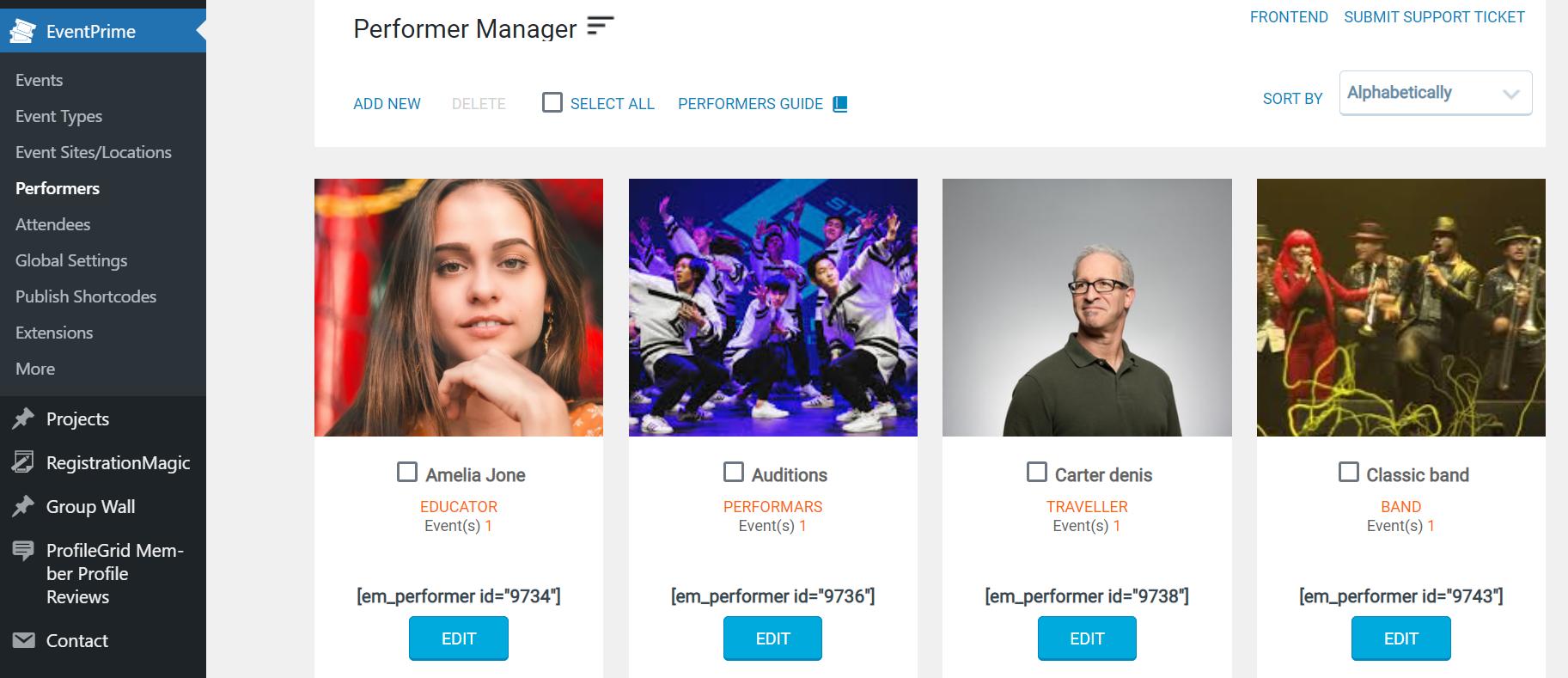 Event Performer- WordPress Event Management Plugin